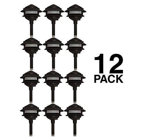 - Westgate LED Pagoda Landscape Light-Pathway Light with Integrated LED-Aluminum Housing Black Finish-3 Year Warranty (12)