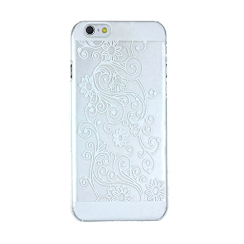 Bestpriceam® for Iphone 6 Clear Hybrid Damask Hard Protective Case Cover Skin