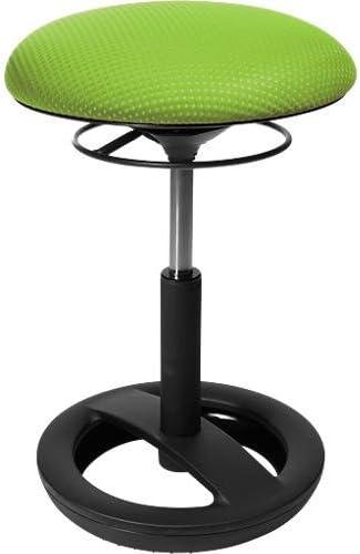 Topstar Sitness Bob, ergonomischer Sitzhocker, Schwingeffekt, Sitzhöhenverstellung, Standfußring schwarz, Polster apfelgrün