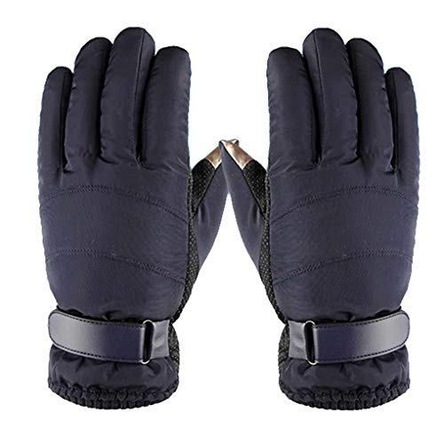 Aulley Men Touch Screen Skiing Gloves Waterproof Windproof Winter Warm Anti-Slip Skating Ski Outdoor Snowboard Motorcycle Gloves