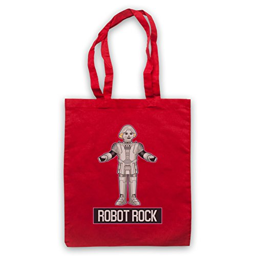 Rock Dance Rouge Icon Robot Clothing Parody d'emballage Retro Sci amp; Sac Art My Fi wgXCxz6qXW