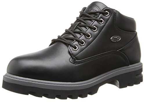 (Lugz Men's Empire WR Thermabuck Boot, Black/Charcoal Smooth, 13 D US )