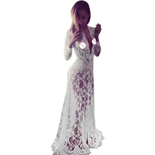 Blanc En Robes Maillots Costume Robe Bikini Dentelle Blanc Long Jupes Femmes Dames De Baignoire Mode D't Robe Couvrir Mousseline Casual Plage Soie XL Chaud De Yahoo De Robe Crochet Bain qCw0OvOA