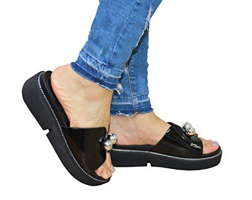 Nuevo estilo de la mariposa del verano de las mujeres de las señoras resbalón en la sandalia plata