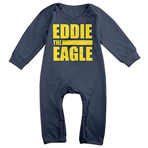 KIDDOS Baby Infant Romper British Comedy-drama Film Long Sleeve Jumpsuit Costume,Navy 12 Months (Baby Godzilla Costume)