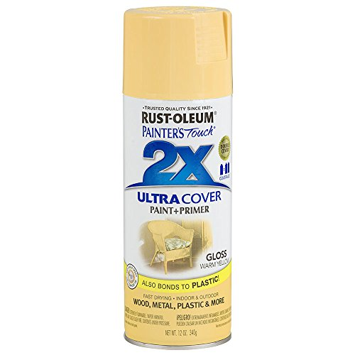 - Rust-Oleum 249091 Painter's Touch 2X Ultra Cover, 12-Ounce, Warm Yellow