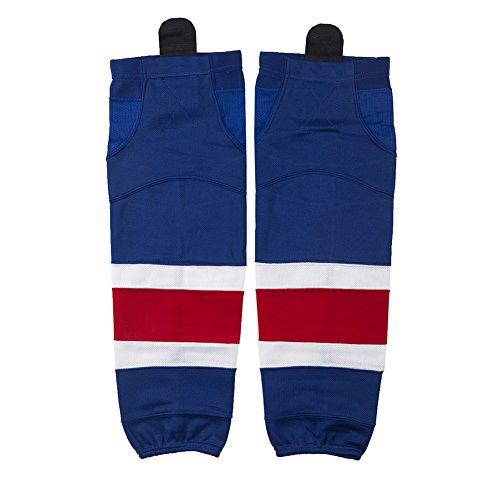 COLDINDOOR Youth Hockey Socks, Men Big Boy Quick Wicking Ice Hockey Socks Adult Senior Size Sapphire Blue S