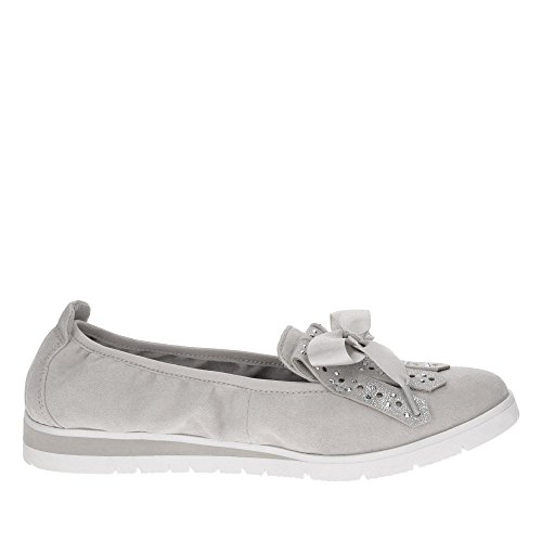 Tamaris Ladies Slipper 1-24616-20-205 Stone Gray Grey ONZH42g48