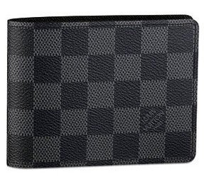 Authentic Louis Vuitton LV Damier Graphite Canvas Multiple Wallet Black/Grey (Louis Vuitton Damier Graphite)