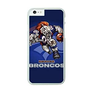 NFL Case Cover For Apple Iphone 6 4.7 Inch White Cell Phone Case Denver Broncos QNXTWKHE1020 NFL Phone Clear