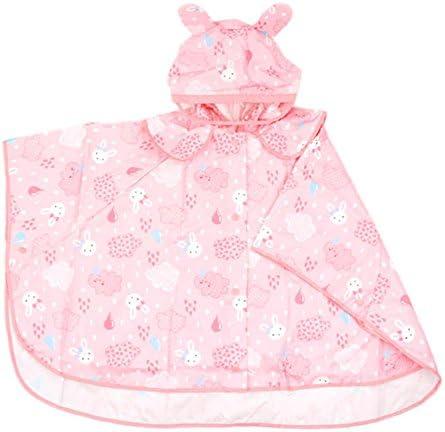 防水 キッズレインコート 子供ベビーフード付きポンチョピンク環境保護Hatは耐性レインコートのパターンかわいいレインコートを着用してください 梅雨対策 アウトドア