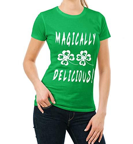 Miracle(Tm) Womens Magically Delicious Irish Shamrocked Shirt - Funny Green St Patricks Day Tshirt (XS)