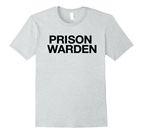 Mens Funny Halloween Prison Warden Costume Shirt 3XL Heather Grey - Warden Costume Male