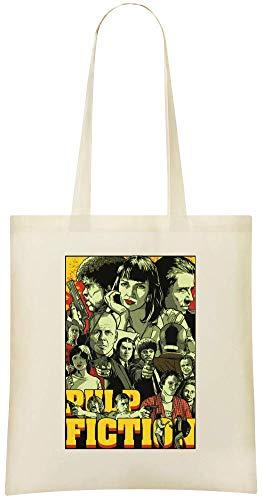 Use Bags Tote Grocery Printed Custom Shoulder Cotton Pulp Soft Everyday 100 Friendly fiction Bag For Eco Handbag pulp Fiction Stylish amp; Custom q1FqU4Yx