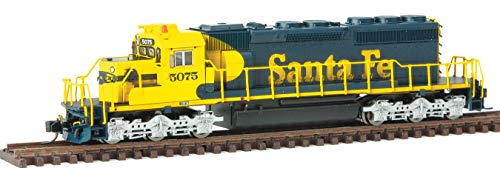 EMD SD40-2 w/LokSound & DCC -- Santa Fe (Warbonnet, blue, yellow)