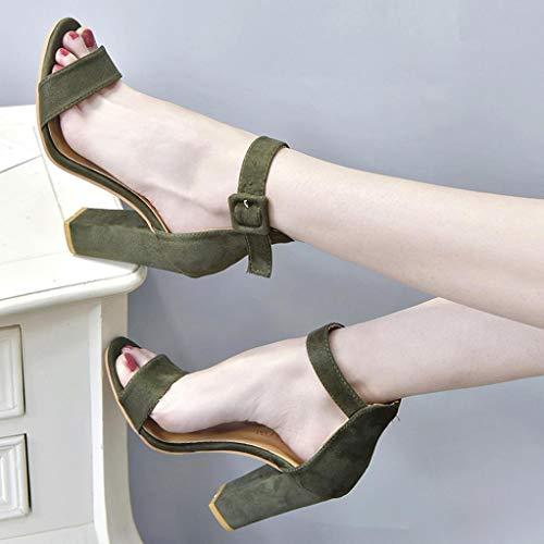 Alla Elecenty Peep Sandalo Scarpa E Donna Caviglia Donne Toe Ragazze Alto Verde Eleganti Scarpe Tacco Sandali Elegante Cinturino Con rS0qZrA