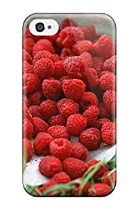 Defender Case With Nice Appearance (raspberry) For Iphone 4/4s