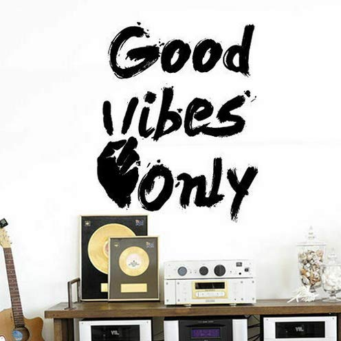 Tomikko Good Vibes Quote Wall Decal Sticker Sign Lettering Motivational Decor Art M1586 | Model DCR - - Amalfi Planter