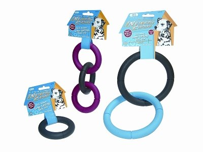 INVINCIBLE CHAINS DOG TOY LARGE TRIPLE RING
