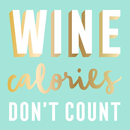 Wine Calories Don't Count Beverage/Appetizer/Dessert Napkins (60 Count, 3 Packs of 20)