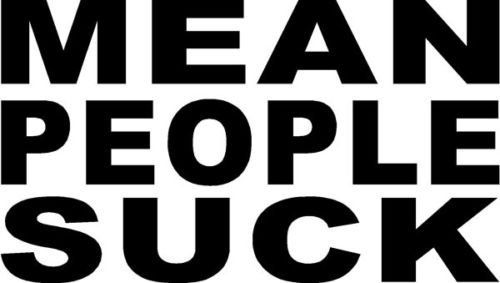 MEAN PEOPLE SUCK Sticker Funny Decal Window Vinyl Logo - Die cut vinyl decal for windows, cars, trucks, tool boxes, laptops, MacBook - virtually any hard, smooth surface