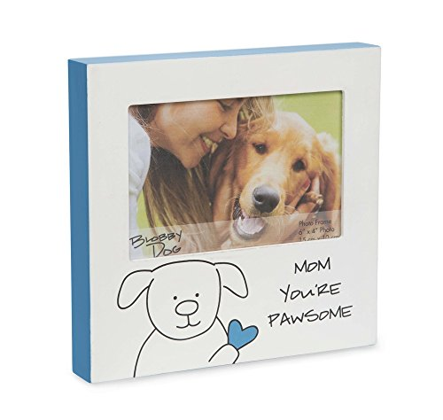 Pavilion Gift Company Blobby Dog - Mom Youre Pawesome Blue Self Standing 4x6 Picture Frame