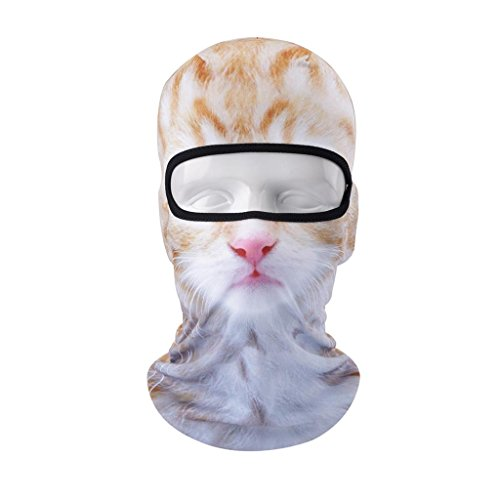 VERTAST Balaclava Face Mask, 2017 New Design 3D Animal Active Full Face Mask for Skiing Cycling Motorcycling Helmet Liner Hiking Camping Neck Warmer, Cat-girl