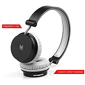 OneOdio On-Ear Wireless Bluetooth Headphones For Sports, Calls, Travel & Running | Lightweight, Foldable & Portable | HD Mic, Clear Bass Sound | For iPhone, iPad, Android & More-Black