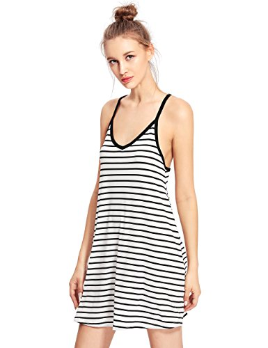 Milumia Womens Strappy Racerback Striped product image