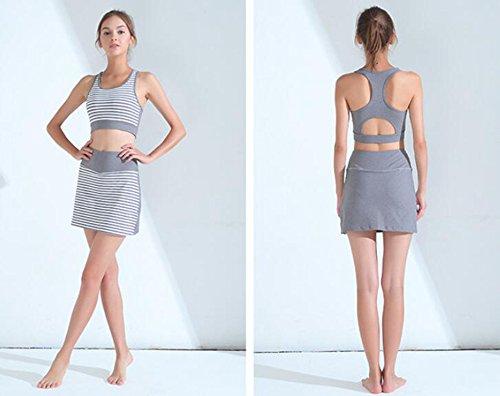 De Fitness Mujer Choques Alta Elasticidad Ropa Correr Deportes A Interior Sujetador Yoga C Prueba Daeou Transpirable p75fntw