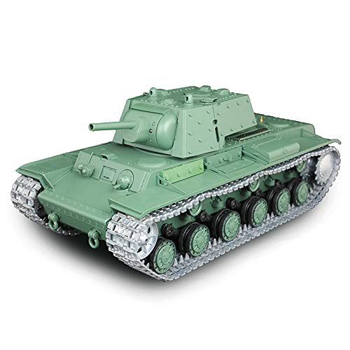 (1/16 Scale Remote Control RC Tank, HengLong 1/16 Scale Russian KV-1 RTR RC Tank Upgraded Metal Ver Sound Smog 3878)