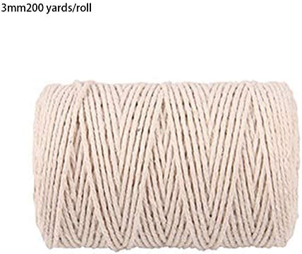 DIYデコレーション100mコットンロープ - 手芸コットンストリング1mm 2mm 3mmお祝いデコレーション綿糸