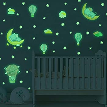 Toyvian Glow in The Dark Stars Stickers for Ceiling Luminous Wall Stickers,282pcs Bright and Realistic Stars and Full Moon for Starry Sky,Wall Stickers,Kids Room Decor Adhesive Included