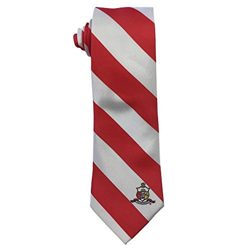 Kappa Alpha Psi Fraternity Necktie Tie Greek Formal Occasion Standard Length Width Hanky Pocket Square (Striped Crest (120 Psi Pocket)