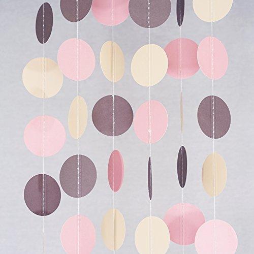 Chloe Elizabeth Circle Dots Paper Party Garland Streamer Bac