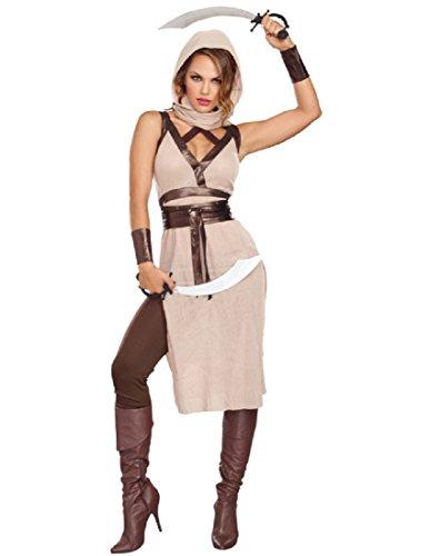 Dreamgirl Women's Desert Warrior Costume, Camel/Brown, -