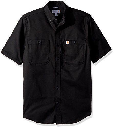 Men Short Carhartt Sleeve Rugged Shirt Black Short sleeve Prof x44zwT5