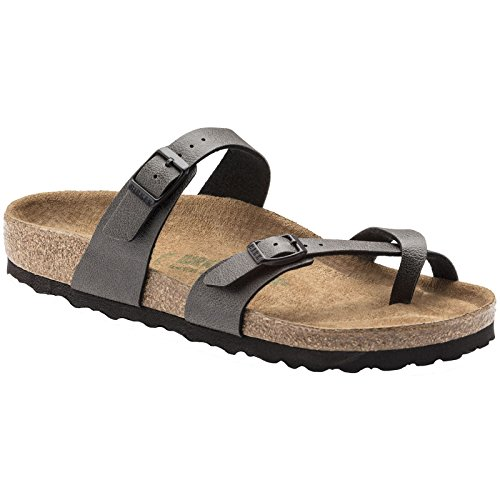 - Birkenstock Unisex Adults Mayari Vegan Birk-Flor Pull Up Cut Out Sandals - Pull Up Anthracite Vegan - USW10/M8/EU41
