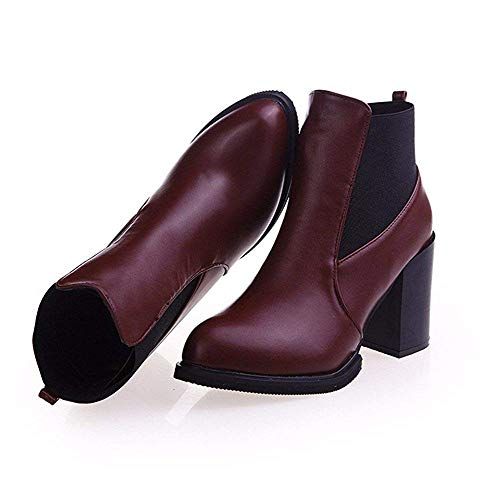 Mujer Deed Punta Cortas Impermeables Para Alto Botas Plataformas De Zapatos Tobillo Eu Martin Con Y 39 Tacón YSrRTYq