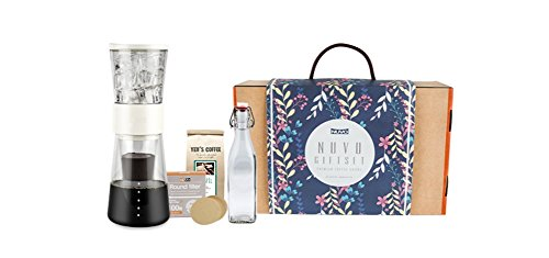 Coffee-Maker Gift Set with cold-brew home maker, bottle, filter, bean By Nuvo (Ivory - Melbourne Shop Irish