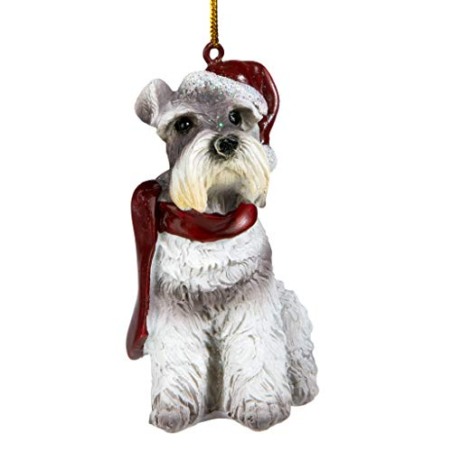 Design Toscano Christmas Ornaments - Xmas Miniature Schnauzer Holiday Dog ()