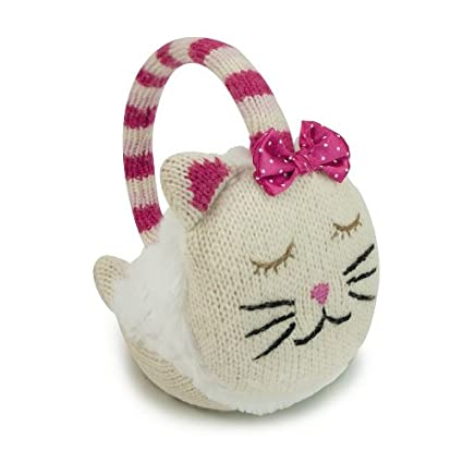Aroma Home Click and Heat Knitted Animal Cozy Cat Ear Muffs KEM-0002