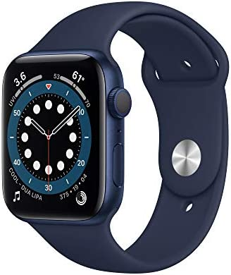New AppleWatch Series 6 (GPS, 44mm) - Blue Aluminum Case with Deep Navy Sport Band WeeklyReviewer