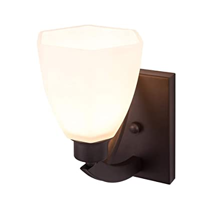 BETLING Exterior 1-Light Wall Porch Lantern Sconce Light Oil Rubbed Bronze