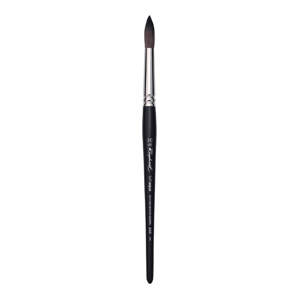 Raphael SoftAqua Synthetic, Watercolor Brush, Series 845, Round, Size 20 by Raphael