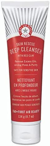 Facial Cleanser: First Aid Beauty Skin Rescue Deep Cleanser with Red Clay