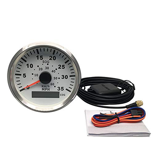 ELING Waterproof GPS Speedometer 0-35MPH Speedo Gauge for Marine with Backlight 3-3//8 85mm 9-32V