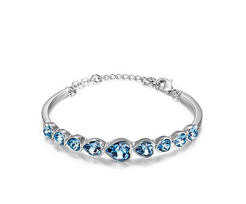 cara swarovski elements crystal heart shape bracelet jewelry bangle for valentines day girlfriend bracelet - Valentines Day Bracelet