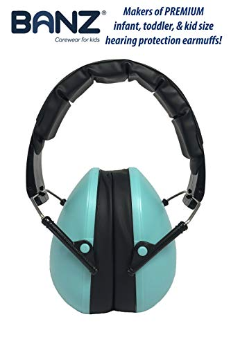 Baby Banz Earmuffs Kids Hearing Protection - Ages 2+ Years - THE BEST EARMUFFS FOR KIDS - Industry Leading Noise Reduction Rating - Soft & Comfortable - Kids Ear Protection, Turquoise by BANZ (Image #2)