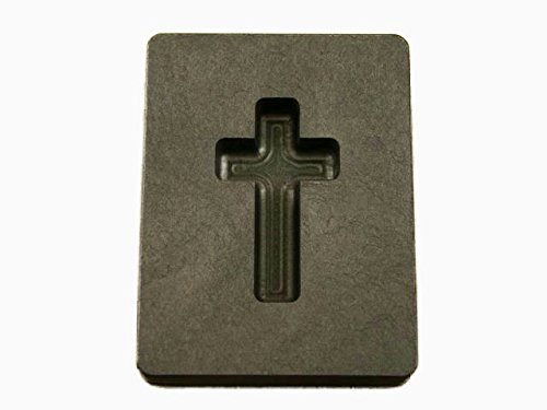 1 oz Custom Cross Gold High Density Graphite Mold Silver Copper 1-7/16